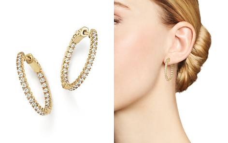 Diamond Inside Out Hoop Earrings in 14K Yellow Gold, 1.0 ct. t.w. - 100% Exclusive - Bloomingdale's_2